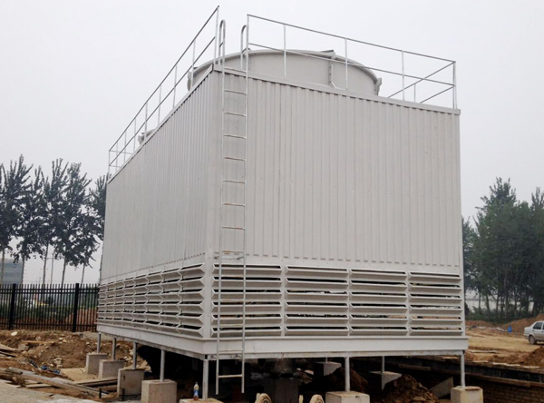 Square counter-flow energy-saving glass fiber reinforced plastic cooling tower
