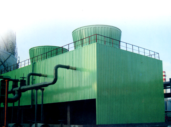 Square steel structure frame FRP cooling tower