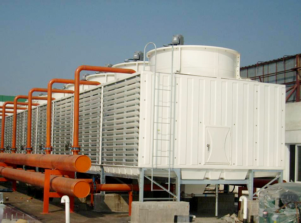 Cross-flow FRP cooling tower