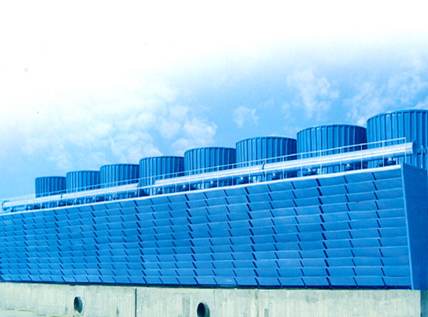 Energy-saving cross-flow FRP cooling tower