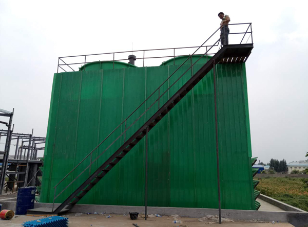 Installation of an industrial cooling tower for a pharmaceutical production company in Anyang completed
