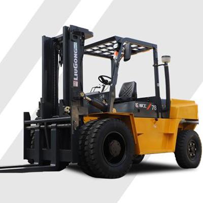 柳工叉车-CLG系列7.8T重载型内燃均衡重式叉车