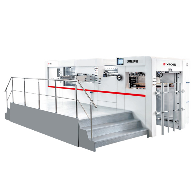YW-105ES automatic die cutting machine with waste removal