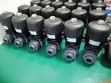 Delivery of pneumatic plastic diaphragm valve ordered by Anhui electroplating equipment factory