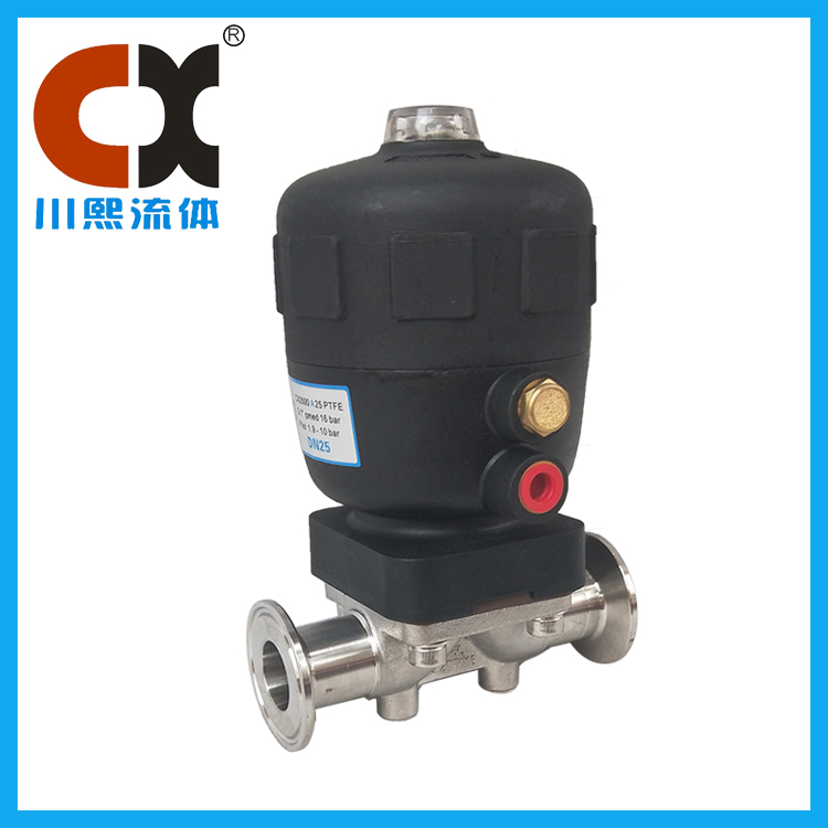 Stainless steel pneumatic sanitary diaphragm valve