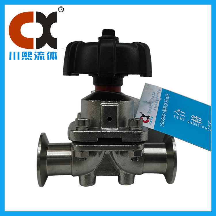 Chuanxi fluid shares the use and characteristics of pneumatic sanitary diaphragm valve