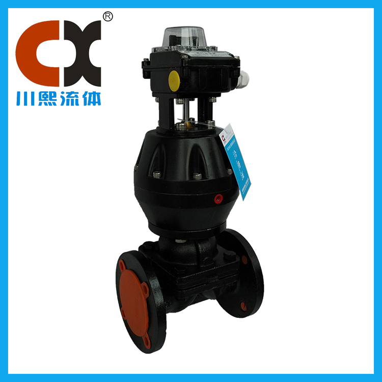 Pneumatic rubber-lined diaphragm valve