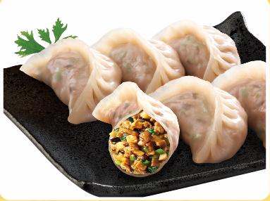 菌菇三鲜蒸饺