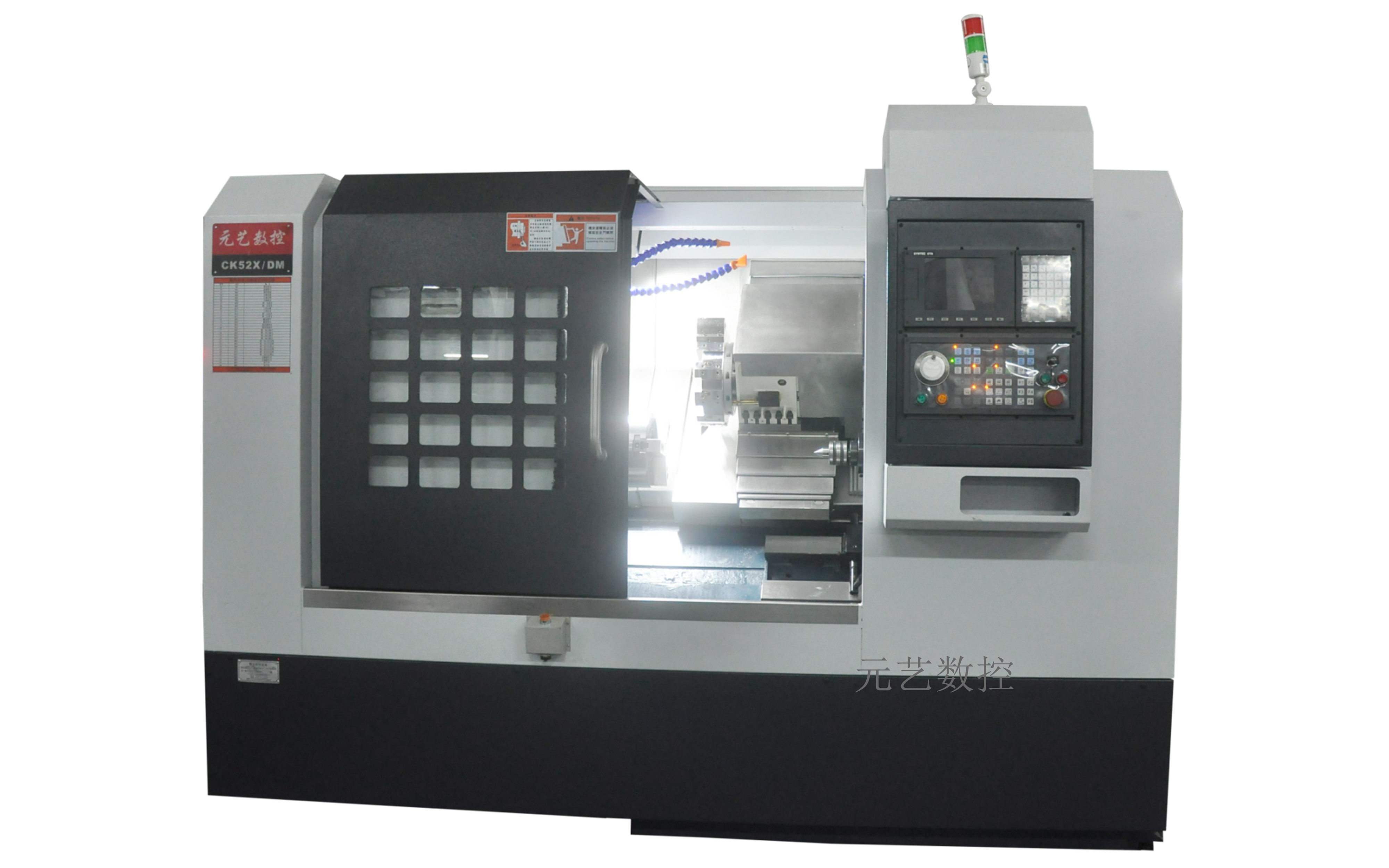 CK52X/DM刀塔斜轨尾座精密数控车床(带液压顶针)