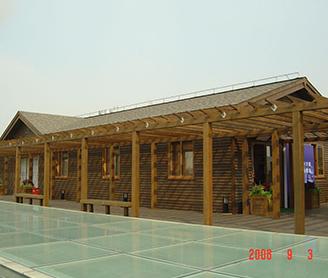 上海社会科学院屋顶木结构乒乓馆