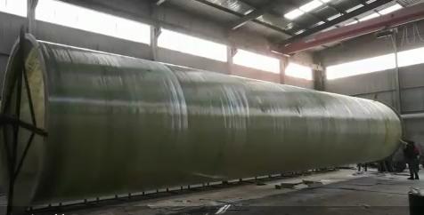 新乡长城玻璃钢管道缠绕工艺制作中
