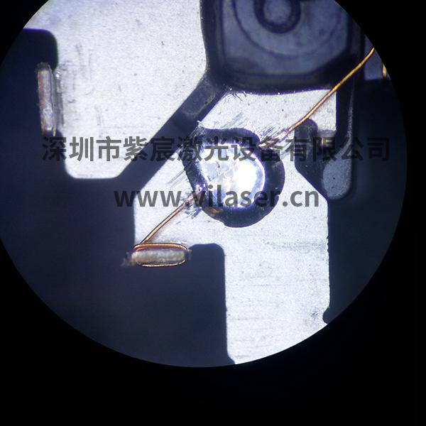遥控器天线激光焊接效果-喷锡球焊接
