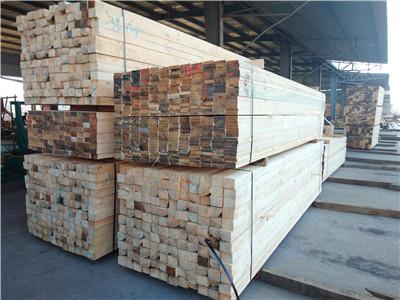 铁杉建筑木方货场