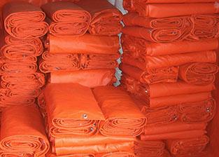 红色玻纤防火布
