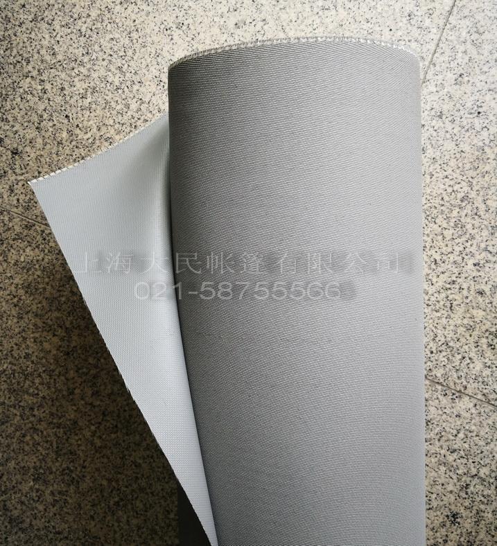 涂硅灰色玻纤防火布
