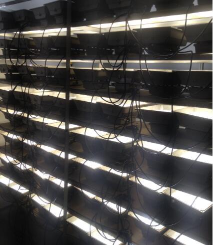 LED補光燈測試老化工作間