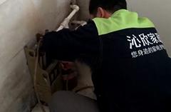 2019年1月2日路师傅在黄金国际为客户清洗地暖