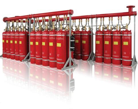 Pipe network type heptafluoropropane fire extinguishing system