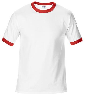 180G撞色领T恤