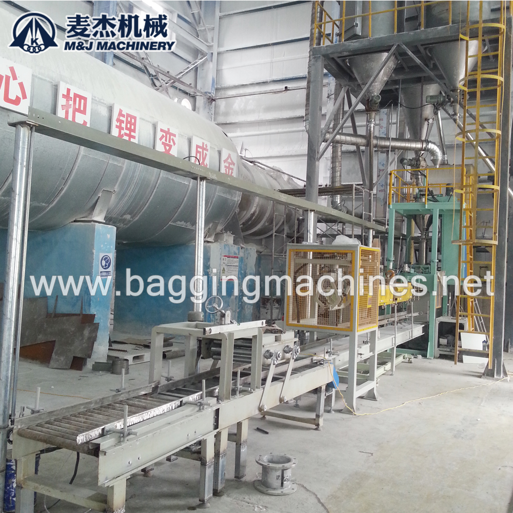 Fully automatic bagging machine  for lithium carbonate powder was put into production