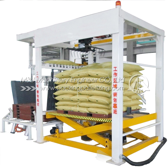Bag palletizer, Bag palletizing machine