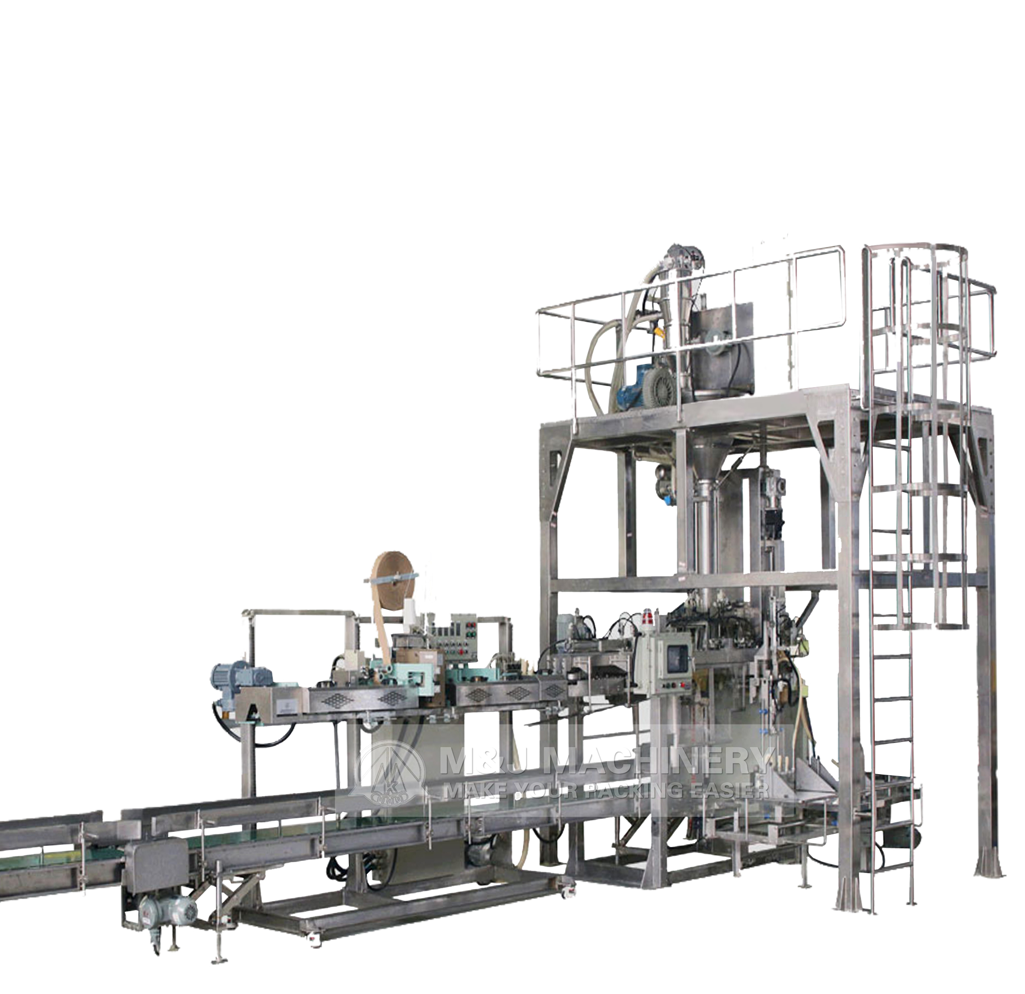 Full automatic compost bagging machine