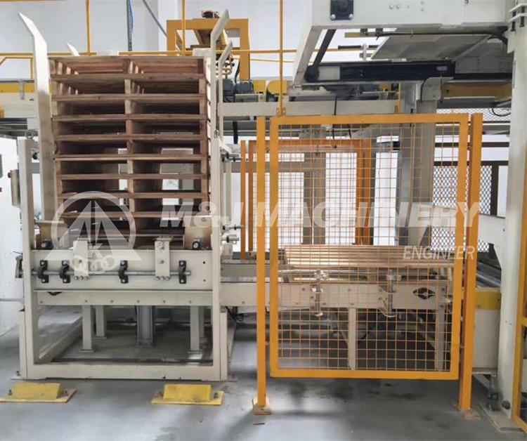 automatic pallet dispenser/pallet magazine/pallet supply machine