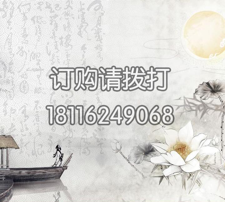 白色珠光布字画无缝墙布ZH-001