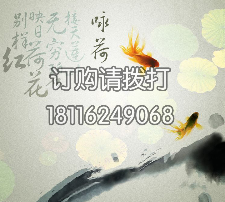 咏荷诗句字画无缝墙布ZH-006