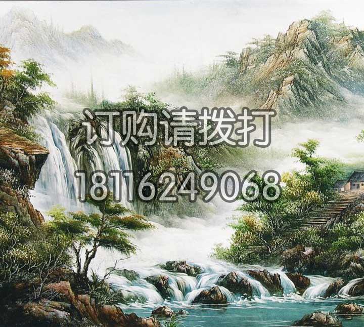写实山间瀑布山水墙布SS-011