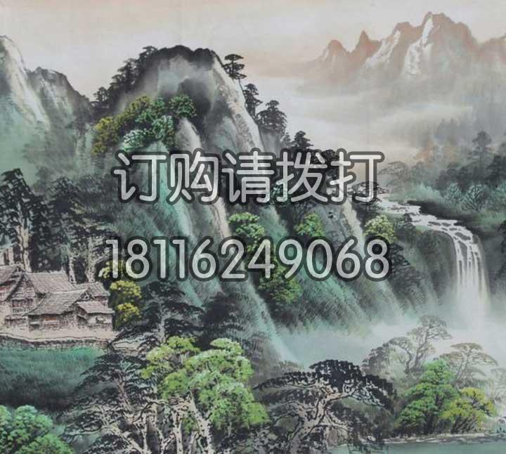 青山绿水山水无缝墙布SS-013