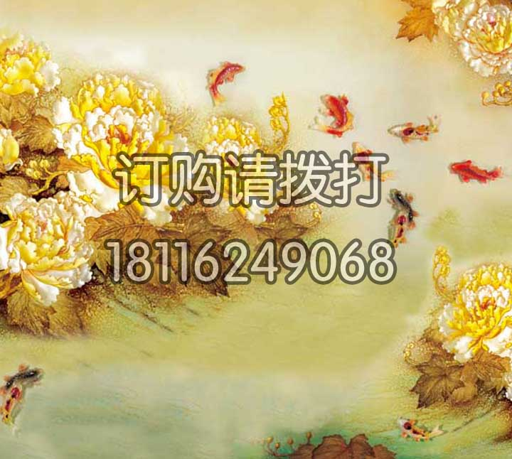 金色浮雕无缝墙布FD-...