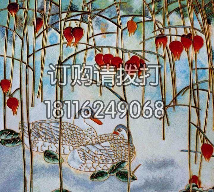 鸳鸯浮雕无缝墙布FD-002