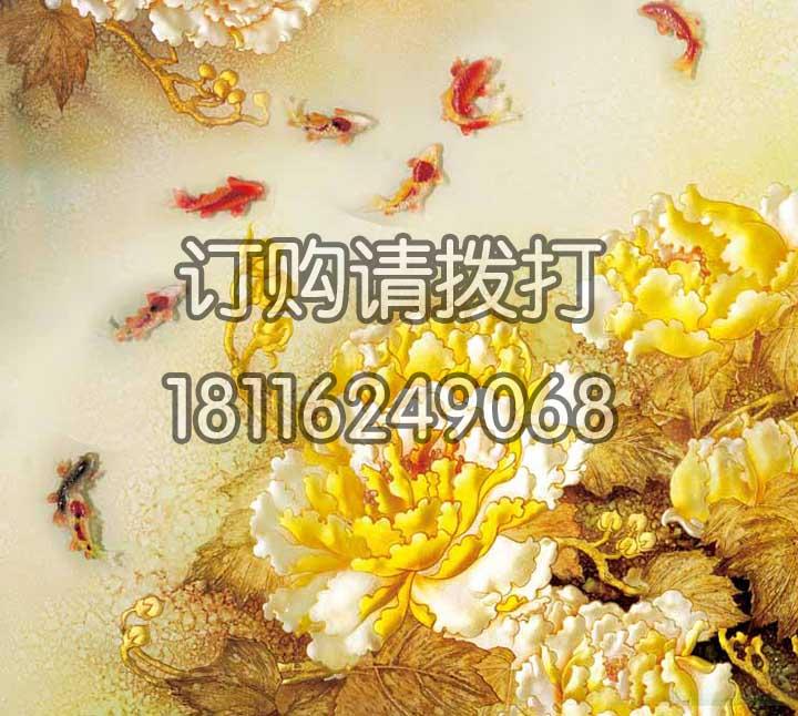 精美金色浮雕无缝墙布FD-011