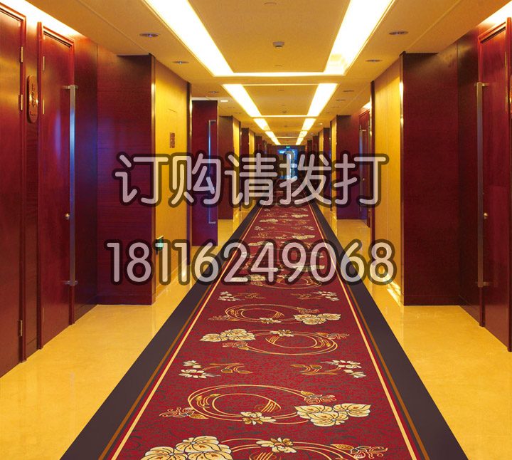 酒店过道高端红色印花全民彩票官网-095