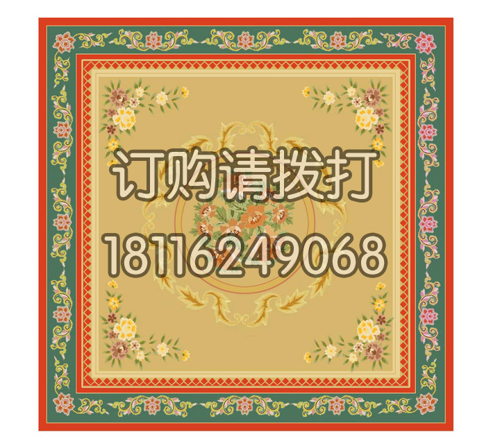 茶几花卉图案手工全民彩票官网-...