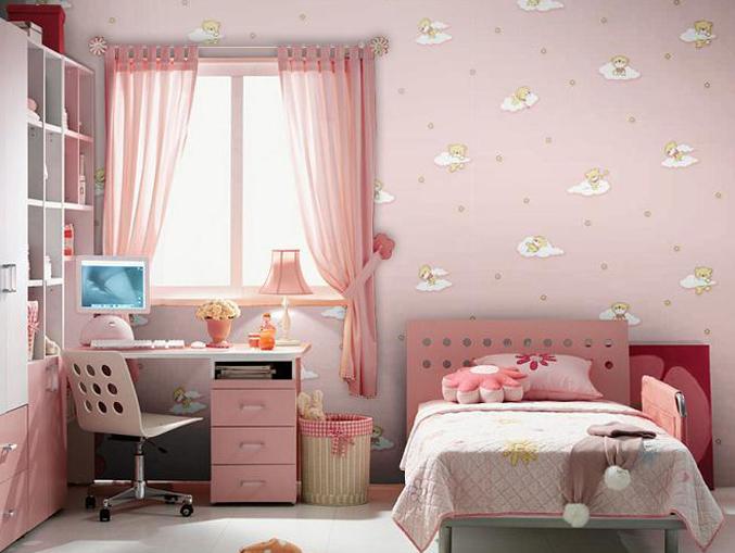 卧室卡通图案墙纸宝贝系列-07040
