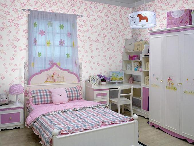 儿童房间花卉图案墙纸宝贝系列-14010