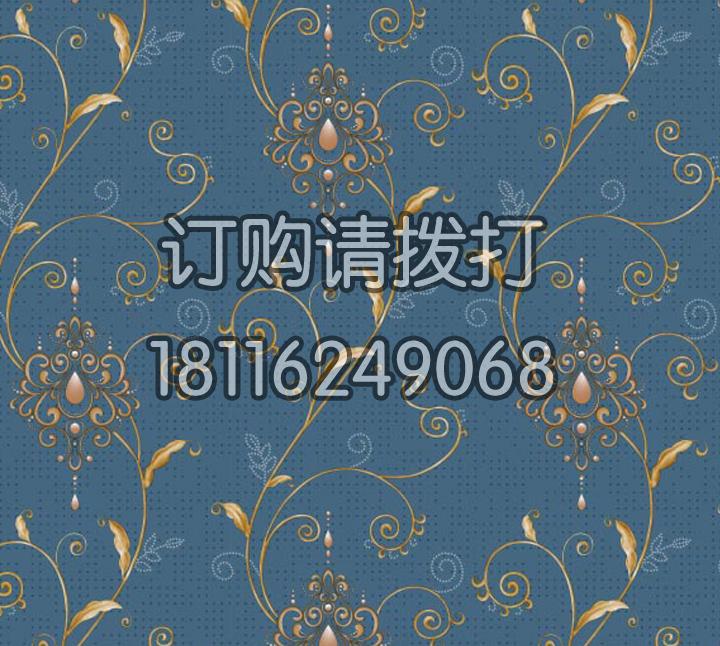 酒店宝石蓝PVC墙纸 风采ME0606