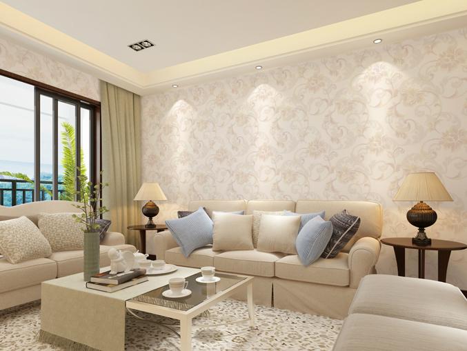 家庭客厅花卉图案PVC墙纸 风采ME0301