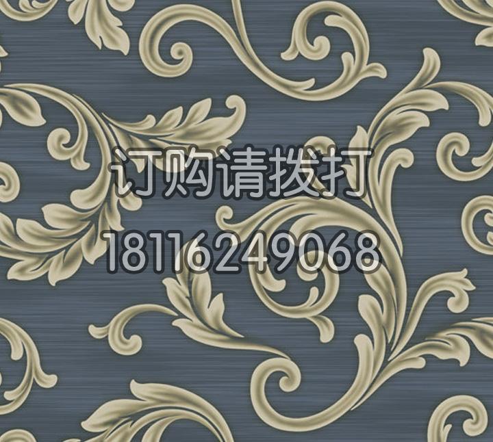 家庭宝石蓝电视机墙无纺墙布 金领GC0706