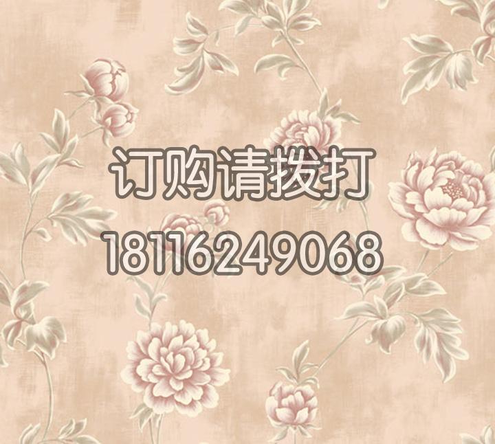 酒店花卉图案无纺墙布 金领GC0801