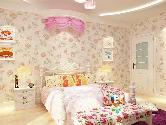 家庭卧室花卉图案无纺墙布 金领GC0806