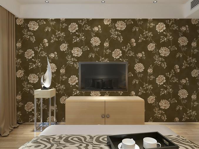 家庭电视机墙无纺墙布 金领GC0807