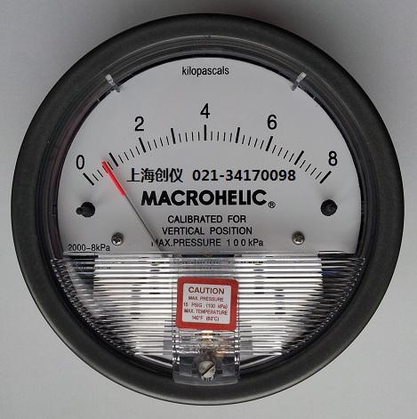 压表表 MACROHELIC 2000-8KPA机械差压表