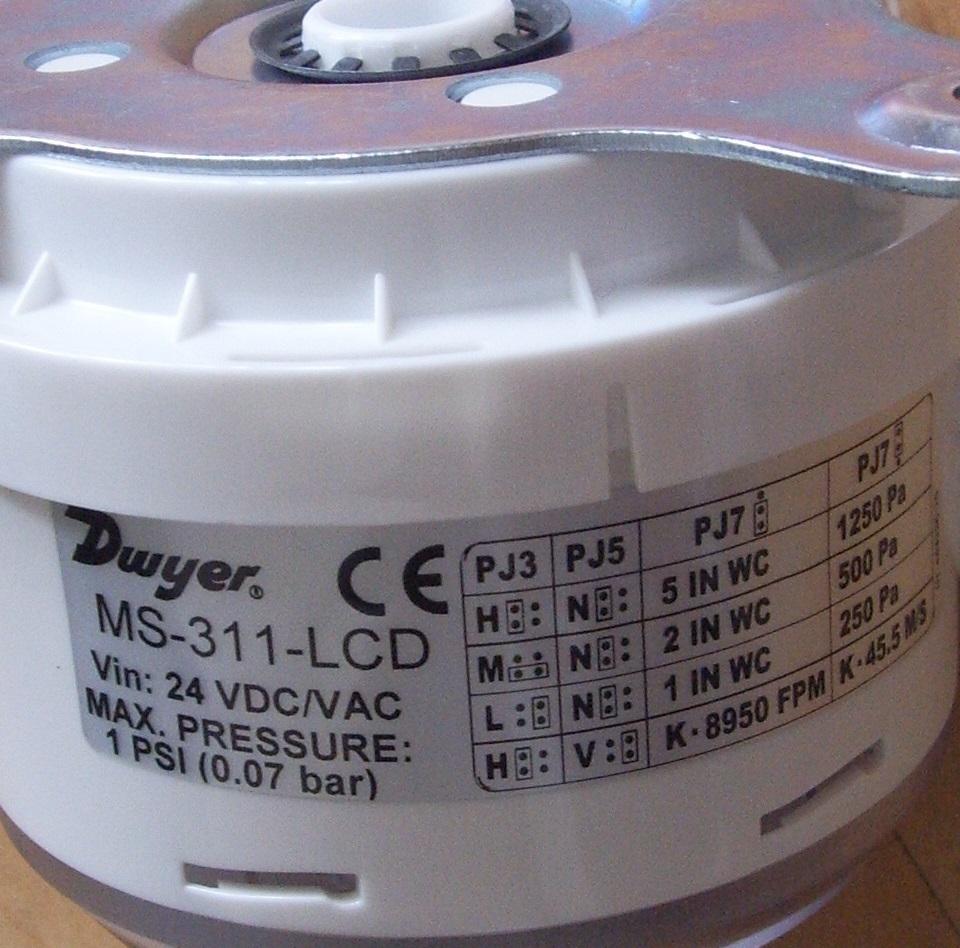 MS-311 MS-311-LCD Dwyer MS系列微压差传感器实物图