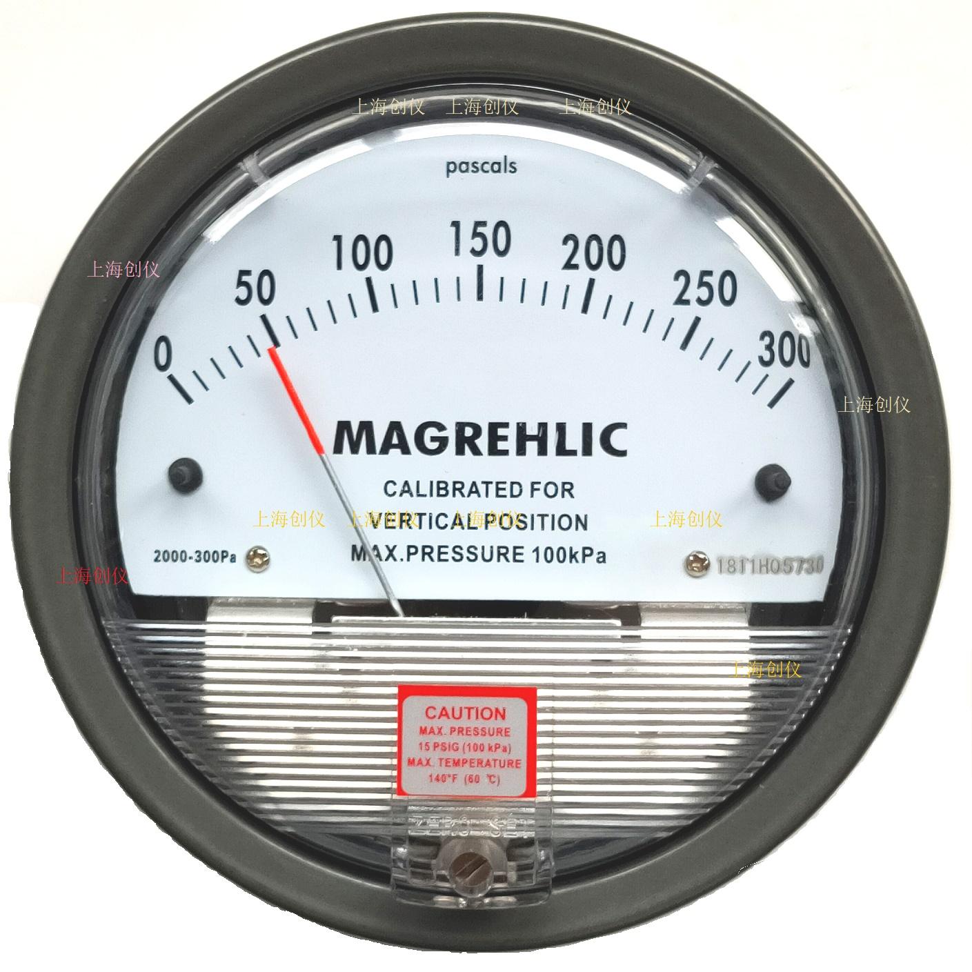 压差表之 2000-300PA及系列机械式指针差压表