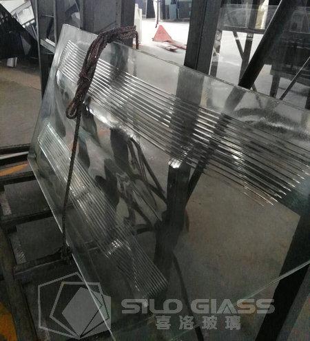 热弯纹理夹胶玻璃