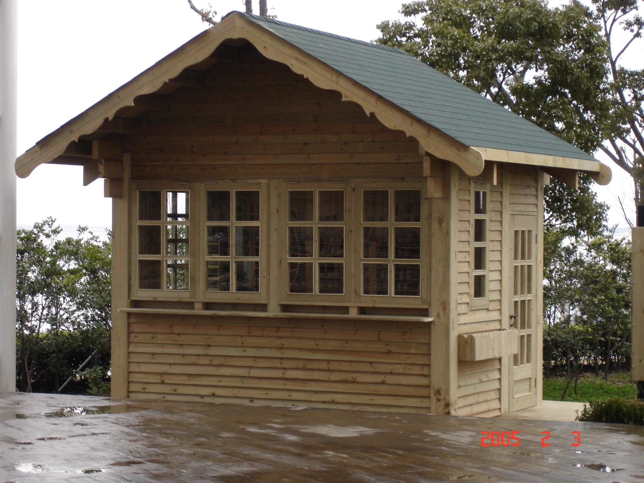 防腐木售貨亭