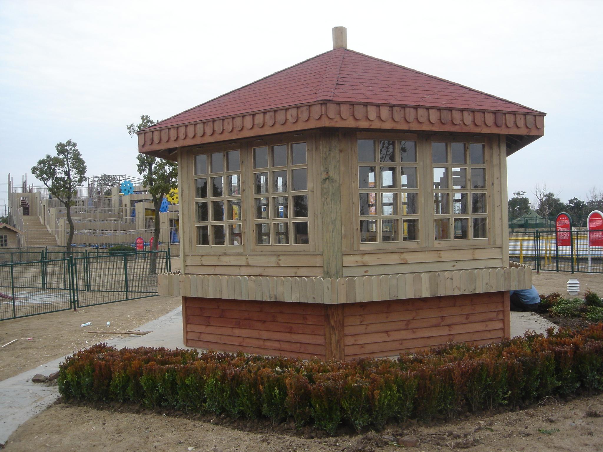 鋼木結構售貨亭